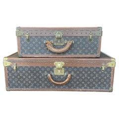 Two Vintage Louis Vuitton Trunks