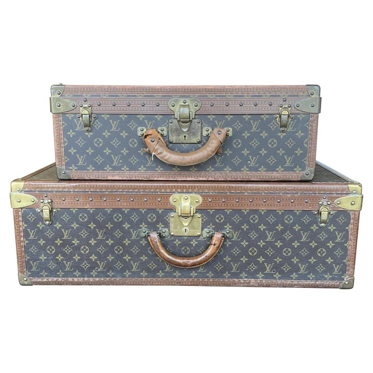 Two Vintage Louis Vuitton Trunks For Sale