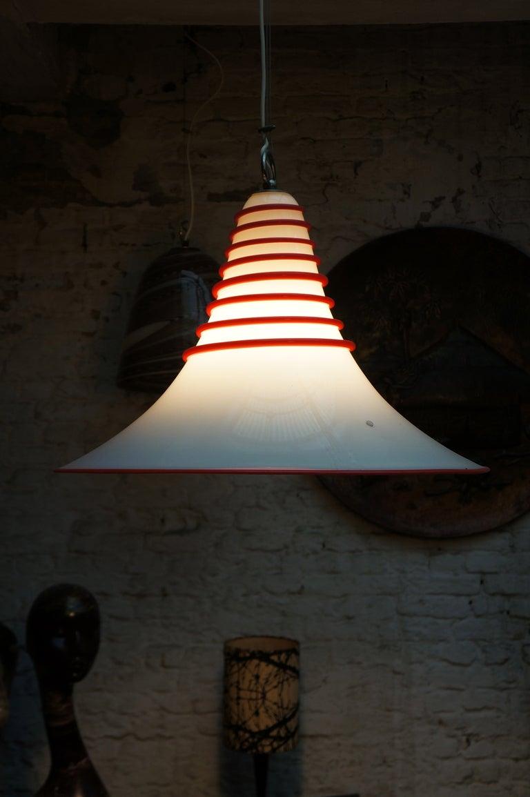 Two Italian Murano glass ceiling lights. Measures: Diameter 60 cm. Height 55 cm.