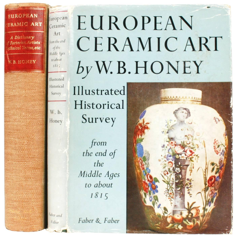 Two Volume Set on European Ceramic Art,  Pair of 1st Ed's Books