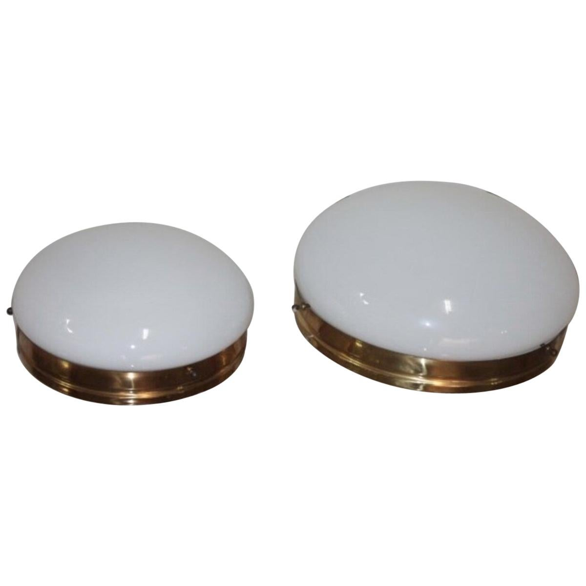 Two Wall Lights 1960s in the Style of Stilnovo