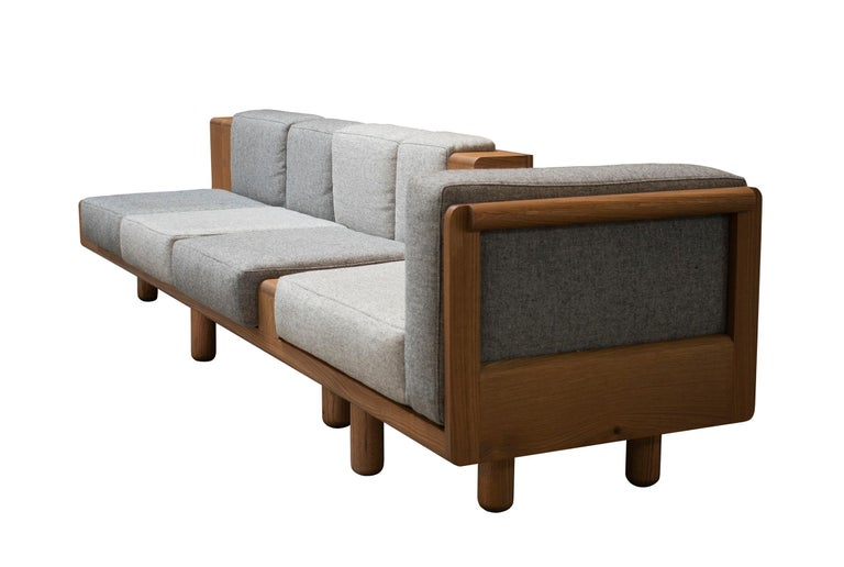 North American Two Way Sofa in White Oak Frame with Kvadrat Fabric Cushions For Sale