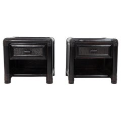 Two Wicker Nightstands, 1970s