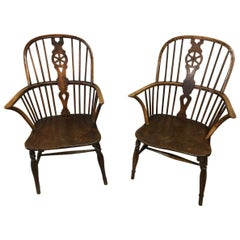 Two Windsor Antique Carver Chairs