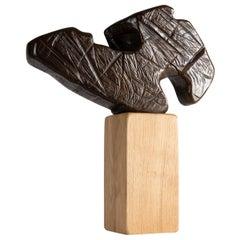 Txoriak, Bronze Sculpture by Zigor 'Kepa Akixo', Pays Basque