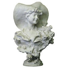 Tycoon's Large Bust 'Lady Of the Grape' after Sculptor Lapini-Provenance