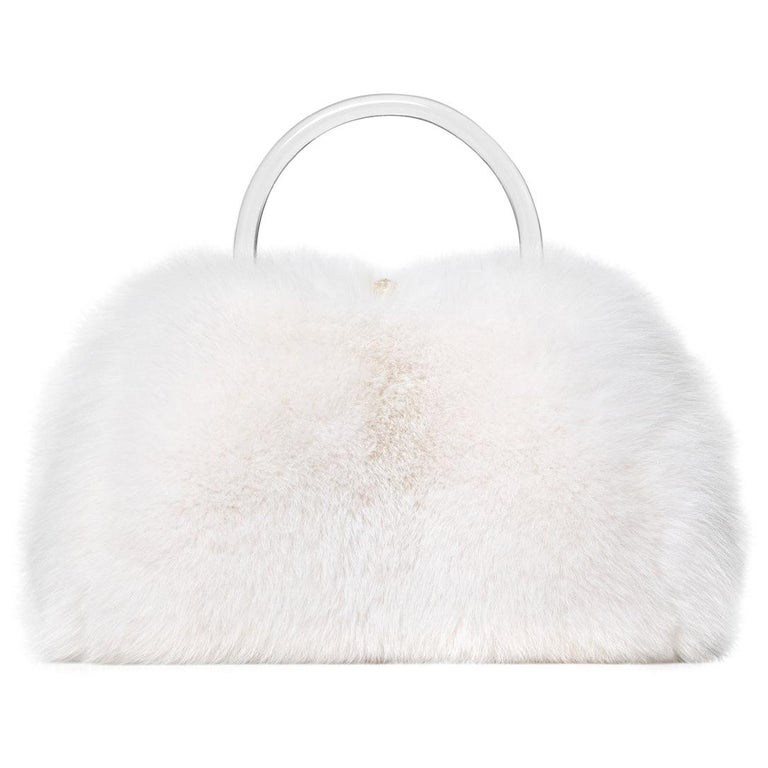 Ashley large tote in white fox