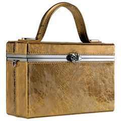 TYLER ELLIS Ava Box in Bronze Antiqued Leather with Gunmetal Hardware
