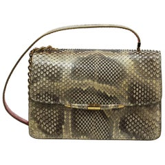 TYLER ELLIS Candy Medium Natural Gold Glossy Python Gold Hardware