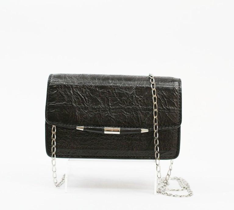 Women's TYLER ELLIS Candy Small Black Watersnake Silver Hardware For Sale