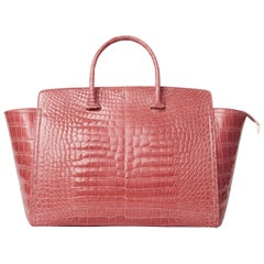 TYLER ELLIS Caroline Tote Large Rose Alligator Rose Gold Hardware