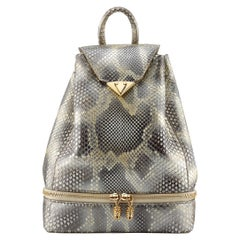 TYLER ELLIS Debi Backpack Natural Gold Glossy Python Gold Hardware