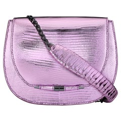 TYLER ELLIS Jane Saddle in Pink and Purple Metallic Lizard