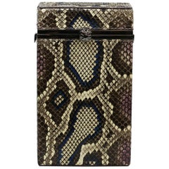 TYLER ELLIS Kelly Box Blue/Violet Python Gunmetal Hardware