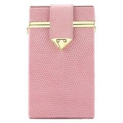 TYLER ELLIS Kelly Novelty Handbag Cherry Blossom Pink Lizard Gold Hardware