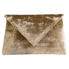 TYLER ELLIS Lee Pouchet Small Dark Gold Crushed Velvet Gold Hardware