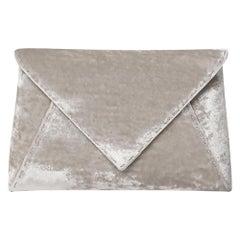 TYLER ELLIS Lee Pouchet Small Silver Crushed Velvet Silver Hardware