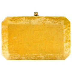 TYLER ELLIS Lily Clutch Gold Honey Crushed Velvet Gold Hardware