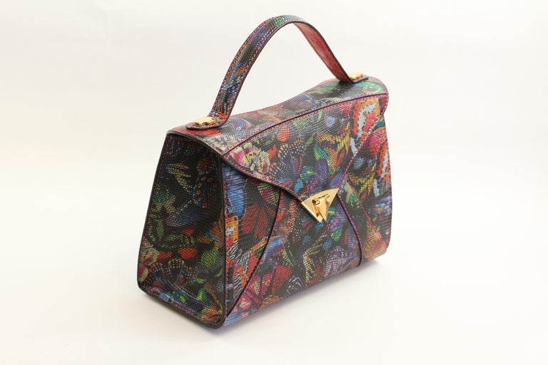 TYLER ELLIS LJ Tote Large Butterfly Lizard Gold Hardware In New Condition For Sale In Los Angeles, CA