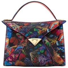 TYLER ELLIS LJ Tote Large Butterfly Lizard Gold Hardware