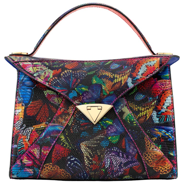 LJ large tote in butterfly lizard