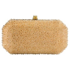 TYLER ELLIS Perry Clutch Small Gold Bubble Swarovski Crystal