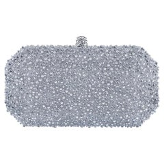 TYLER ELLIS Perry Clutch Small Silver Bubble Swarovski Crystal