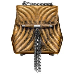TYLER ELLIS Tiffany Backpack Petite in Bronze Leather with Gunmetal Hardware