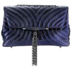 TYLER ELLIS Tiffany Shoulder Handbag Medium in Sapphire Blue Antiqued Leather