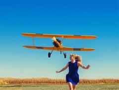 Girl Running From Plane