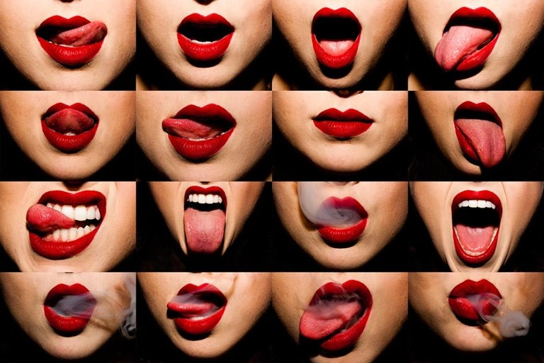 Tyler Shields Color Photograph - Mouths