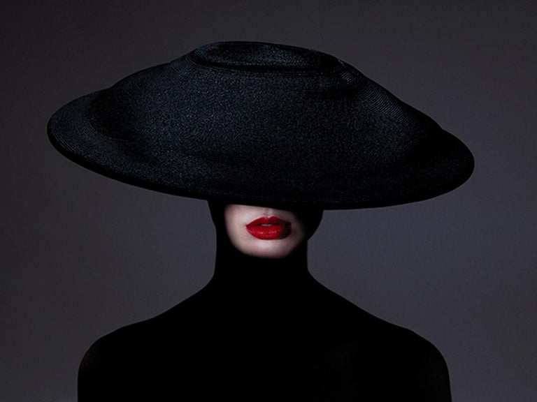 Tyler Shields Portrait Photograph - The Mystery of Mouth, Photography, Story teller, Red lips, hat