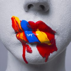 Tyler Shields, 'Primary Lips', 2019