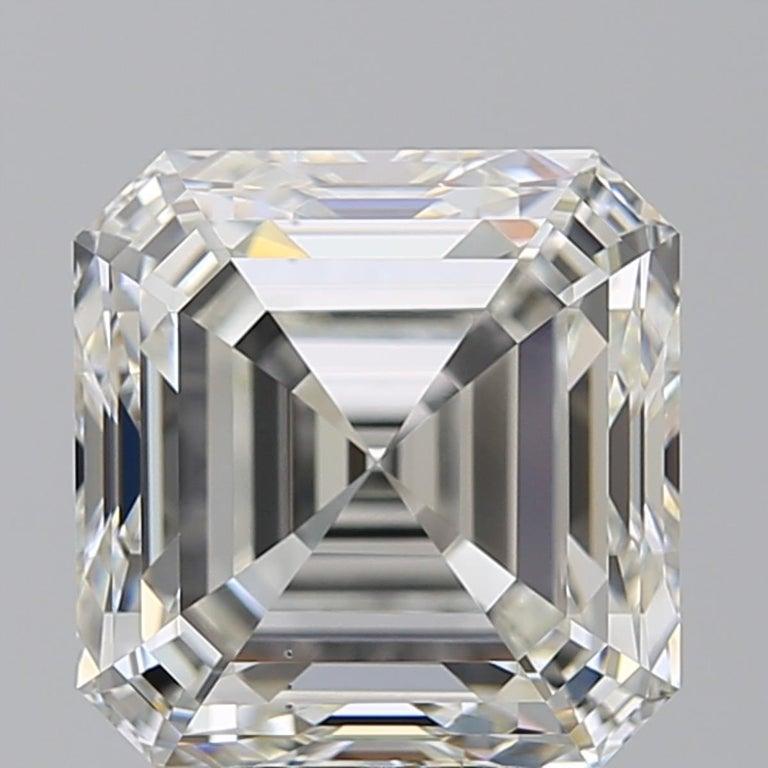 Type 2A EXCEPTIONAL GIA 10 Certified 10 Carat Asscher Cut Diamond Ring