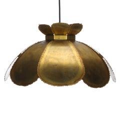 Type 6436 Lamp by Holm Sorensen 1960s. Large Brutalist Danish Hanging Light