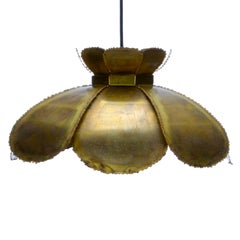 TYPE 6436 Lamp by Holm Sorensen 1960s, Large Brutalist Danish Hanging Light