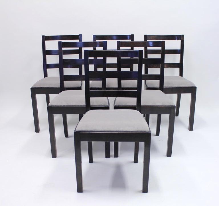 Scandinavian Modern Typenko Chairs by Axel Einar Hjorth for Nordiska Kompaniet, 1930s, Set of 6 For Sale