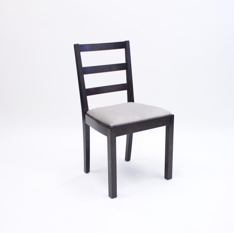 Velvet Typenko Chairs by Axel Einar Hjorth for Nordiska Kompaniet, 1930s, Set of 6 For Sale