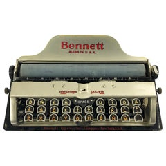 Typewriter by Bennett Company, New York, USA