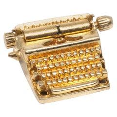 "Typewriter ""I LOVE YOU"" Love Letter 14 Karat Gold Charm"