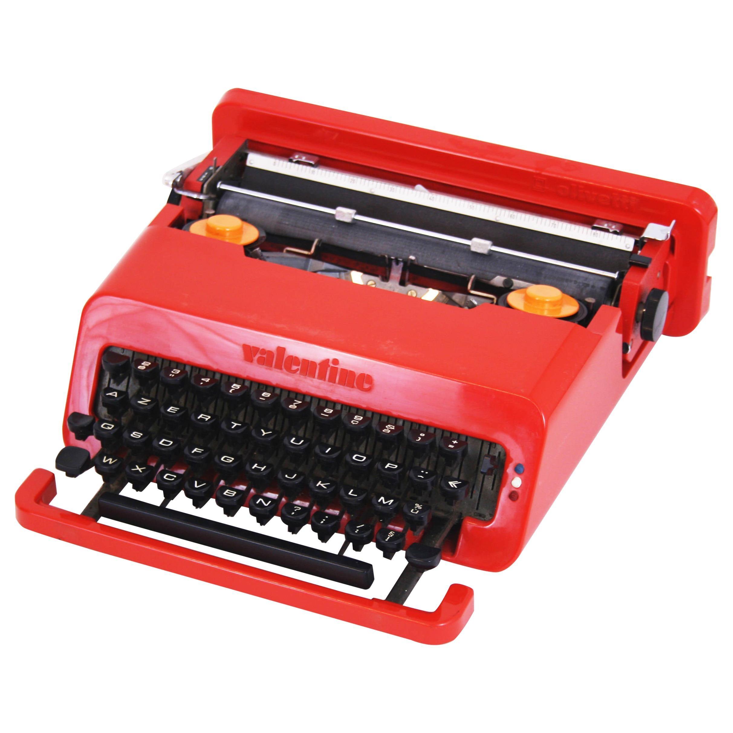Typewriter Olivetti Valentine Iconic Design by Ettore Sottsass, Italy, 1970s