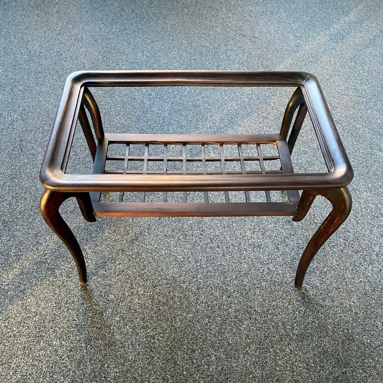 Mid-20th Century Typical Midcentury Paolo Buffa Style Occasional or Side Table, Italy, 1950s For Sale