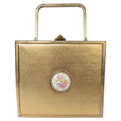 Tyrolean Gold Box Purse 1950s