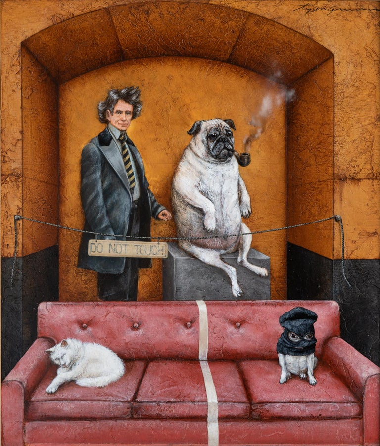 Separation Anxiety (Do Not Touch) - Brown Animal Painting by Tyson Grumm
