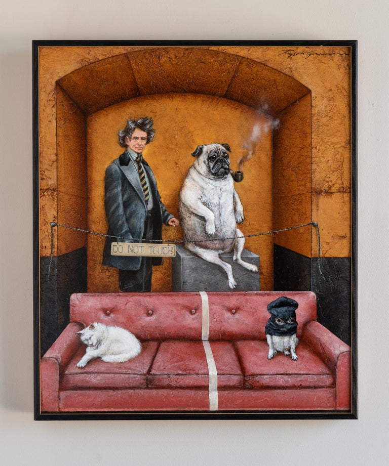 Tyson Grumm Animal Painting - Separation Anxiety (Do Not Touch)