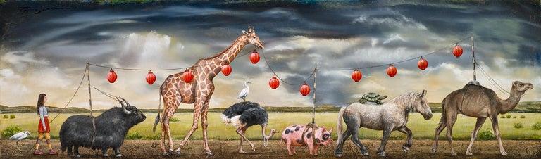 Storyline - Brown Animal Painting by Tyson Grumm