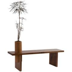 "Tzalam Wood Geometrical Bench ""Bench Three Big"" by Omar Wade"