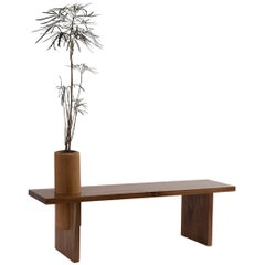 """Tzalam Wood Geometrical Bench """"Bench Three Small"""" by Omar Wade"""
