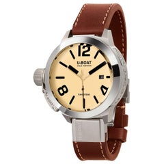 U-BOAT Classico Tungsteno Automatic Beige Dial Men's Watch 8091
