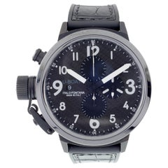 U-Boat Flightdeck Men's Automatic Chronograph Watch with Carbon Dial 7750/50mm